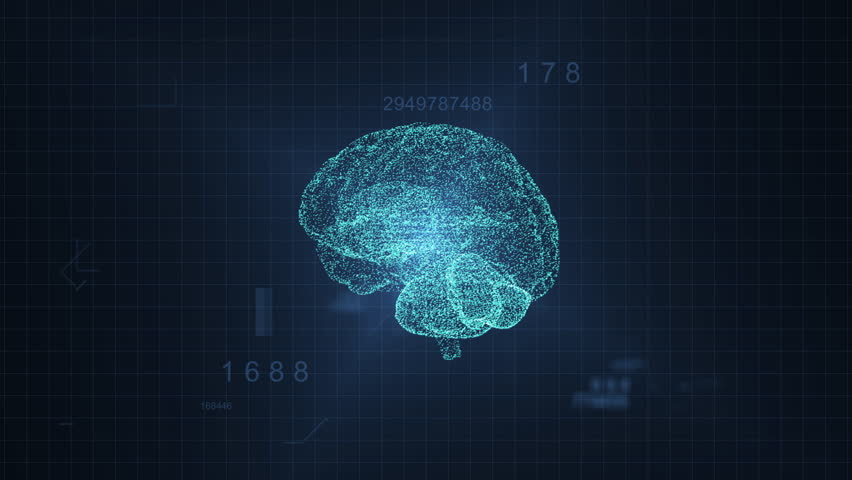 3d digital human hologram brain spinning | Shutterstock HD Video #1027760120