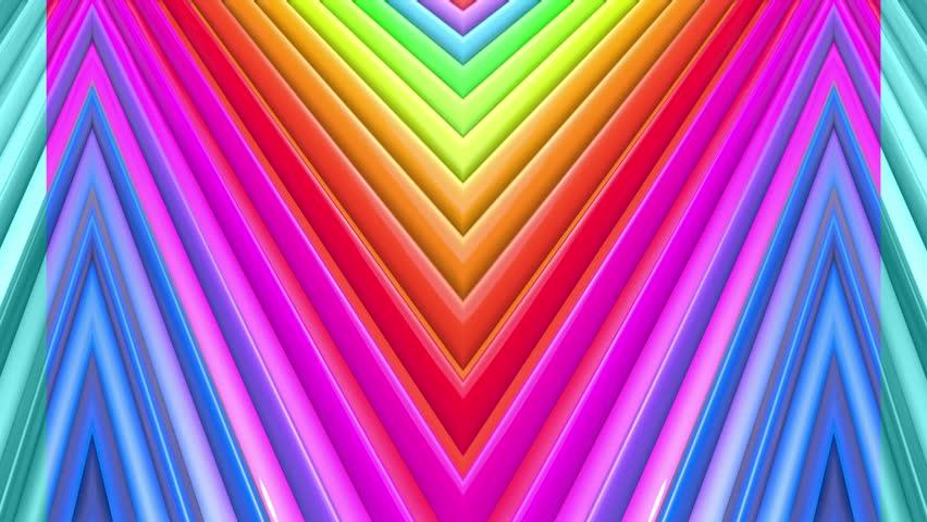 Rainbow multicolored stripes move cyclically. 5 | Shutterstock HD Video #1027761680