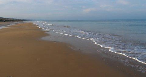 Omaha Beach, the beach near Colleville sur Mer, Normandy,Calvados, France.