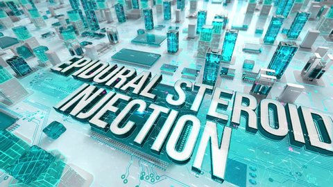 Epidural Steroid Injection with medical digital technology concept