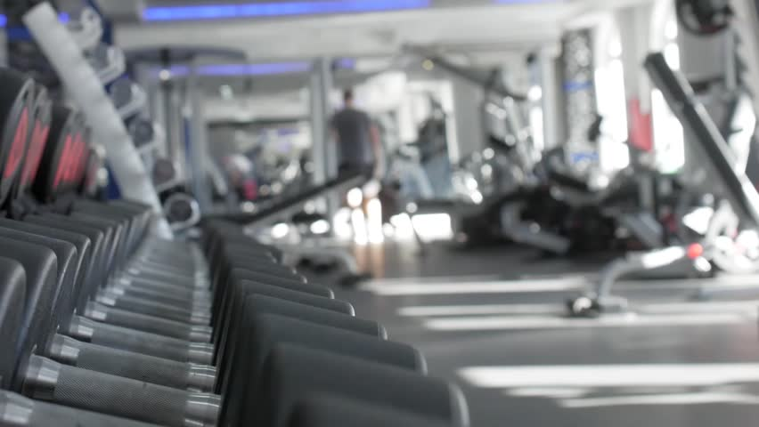 Rows of dumbbells in the gym. #1028111000