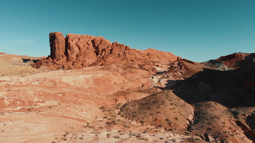 Flying over Valley of Fire | Shutterstock HD Video #1028111150
