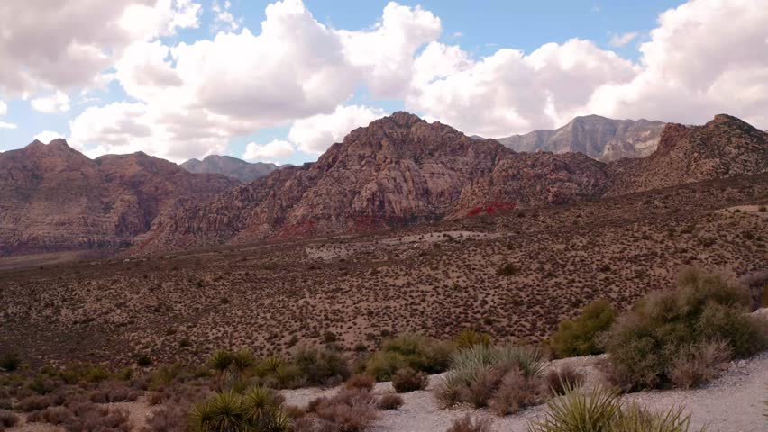 Aerial Mountain Views outside Las Vegas | Shutterstock HD Video #1028135840