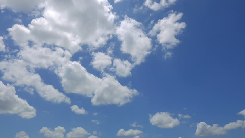 Fast Blue Sky Time Lapse with Dynamic Clouds #1028164490