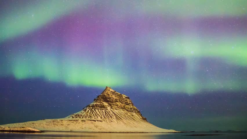 Series of Beautiful Northern Lights or better known as Aurora Borealis time lapse view in 4K | Shutterstock HD Video #1028205350
