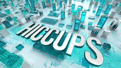 Hiccups with medical digital technology concept