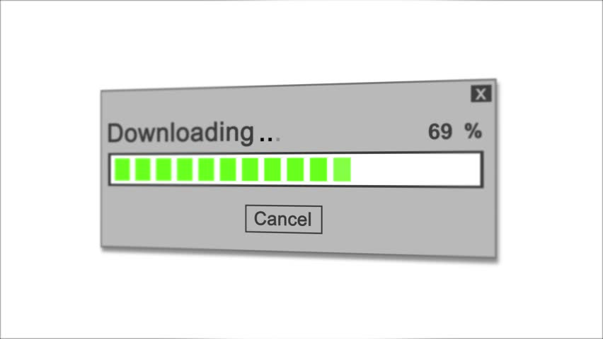 Downloading Process Animation on white Background | Shutterstock HD Video #1028308490