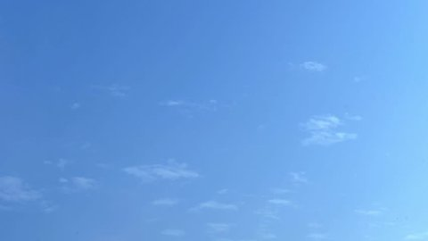 Blue skies sky, clean weather, time lapse blue nice sky. Clouds and sky timelapse, White Clouds Blue Sky, Flight over clouds, loop-able, cloudscape, day