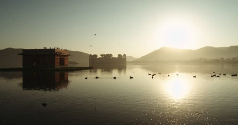Sunset at Jal Mahal, Jaipur, India