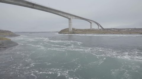 Saltstraumen is a small strait with one of the strongest tidal currents in the world. It is located in the municipality of Bodø in Nordland county, Norway.