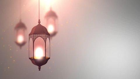 Ramadan Candle Lantern Falling Down Hanging.  Islamic of Themed Ramadan Kareem Background. Suits for Ramadan, eid ul fitr, eid al adha, Islamic Promos, Muslim Programs etc. animation. motion graphic