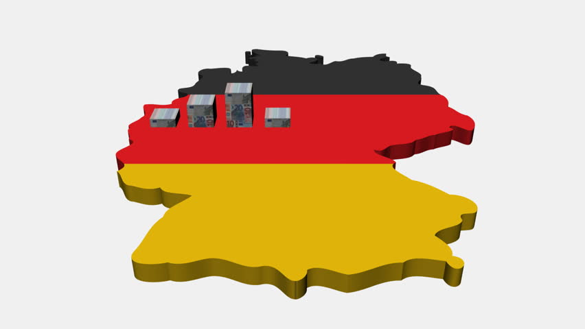 Euros Graph On Germany Map Flag Animation Stock Footage Video - Germany map hd