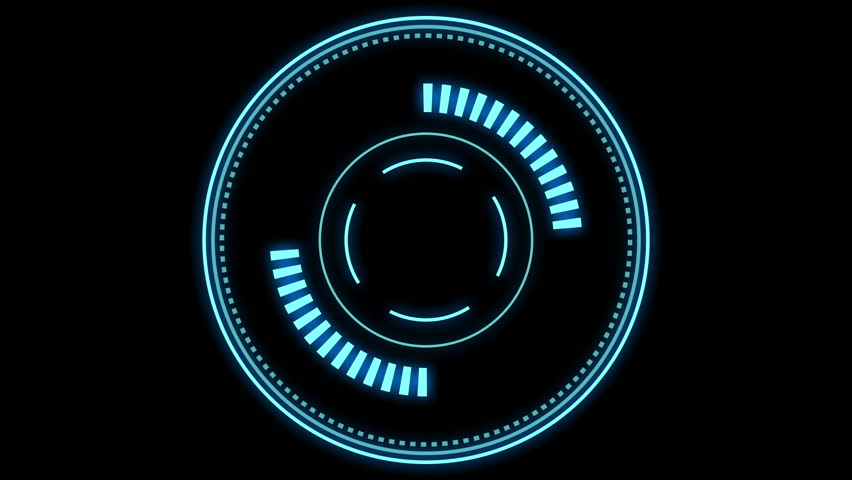HUD element - futuristic loading pending screen, loopable parts, alpha mask included - motion graphic | Shutterstock HD Video #1028851970