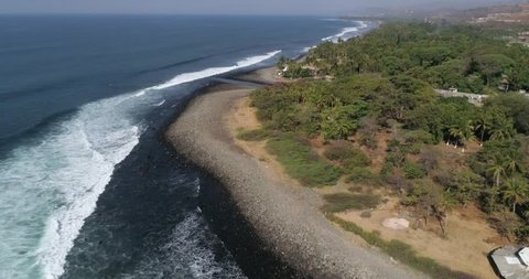 El Salvador Beaches Stock Video Footage - 4K and HD Video