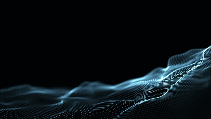 Digital wave background abstract title dark blue blurred animation of particle seamless. | Shutterstock HD Video #1028905280