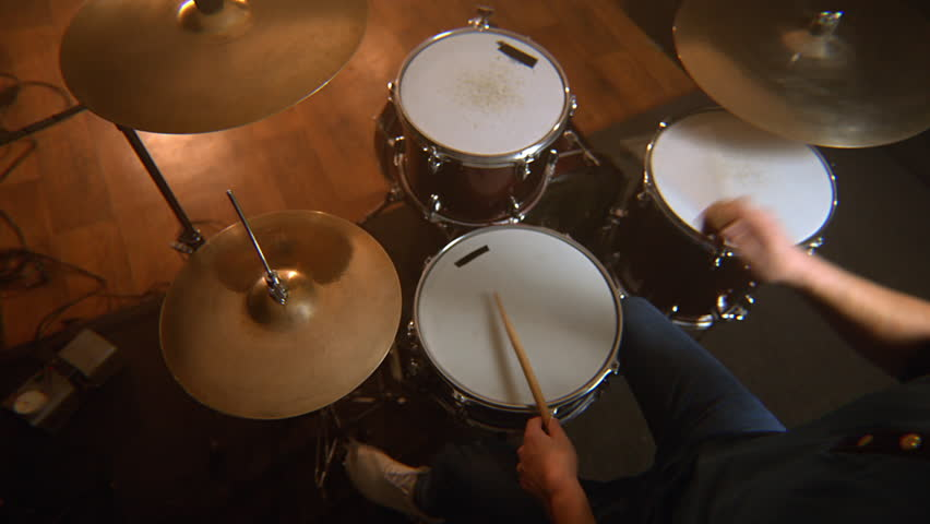 Male drummer, a lesson of jazz training on the drum set in the rehearsal room | Shutterstock HD Video #1028910860