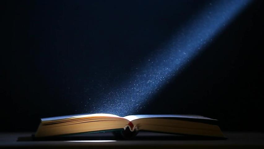 Book table dust dark background  | Shutterstock HD Video #1029097700