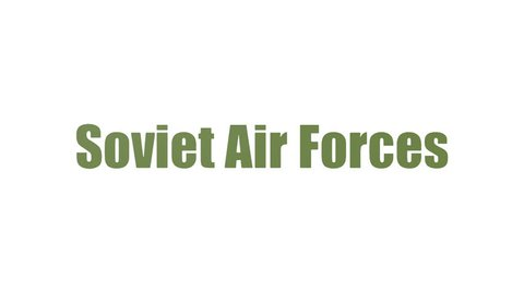 Soviet Air Forces Tag Cloud Animated Isolated On White