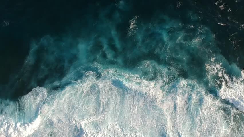 Aerial View of Deep Blue Ocean Waves 1 | Shutterstock HD Video #1029332870