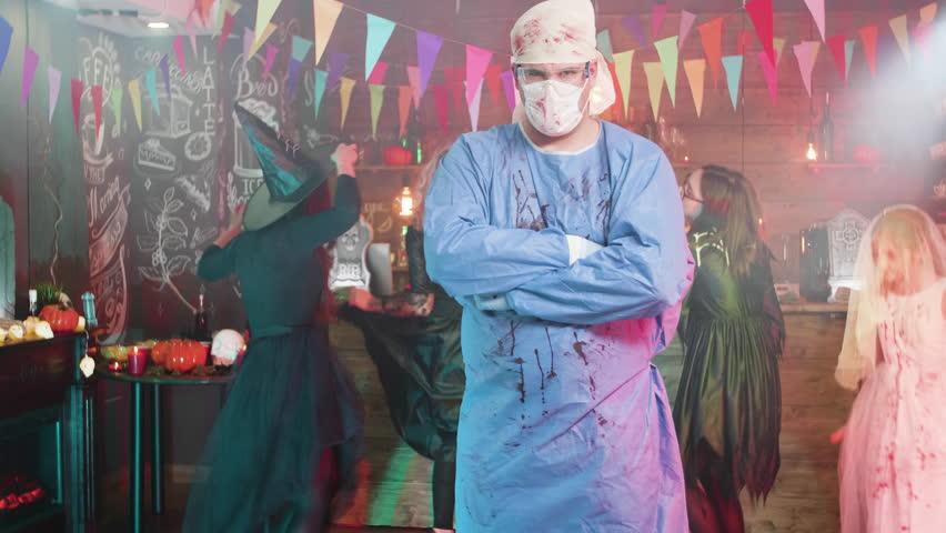 Mad Scientist Lab Doctor//Surgeon Hospital White Bloody Halloween Coat