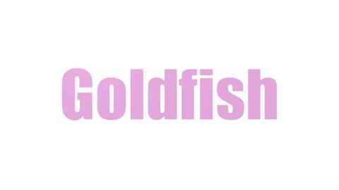 Goldfish Animated Word Cloud On White Background