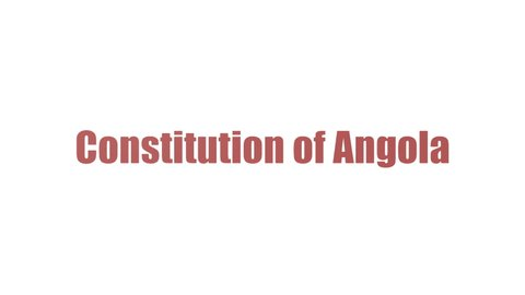 Constitution Of Angola Wordcloud Animated Isolated On White