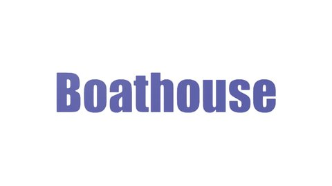 Boathouse Tag Cloud Animated Isolated On White
