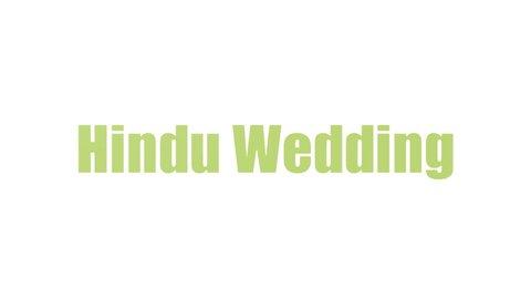 Hindu Wedding Word Cloud Animated Isolated On White