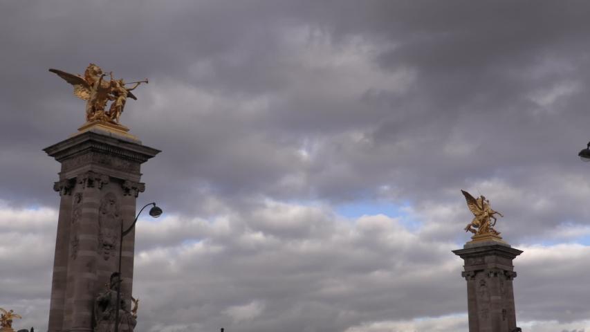 Time lapse Invalides bridge in paris | Shutterstock HD Video #1029854600