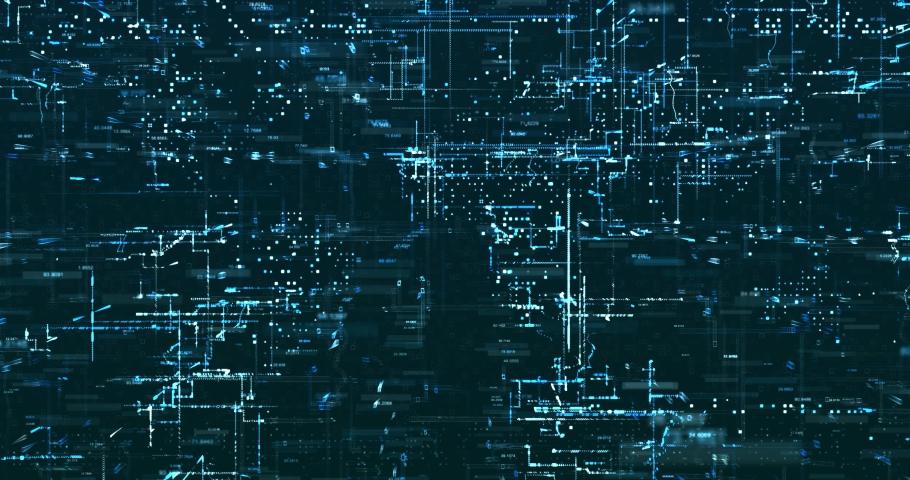 Abstract 3D digital data background   Shutterstock HD Video #1029871760