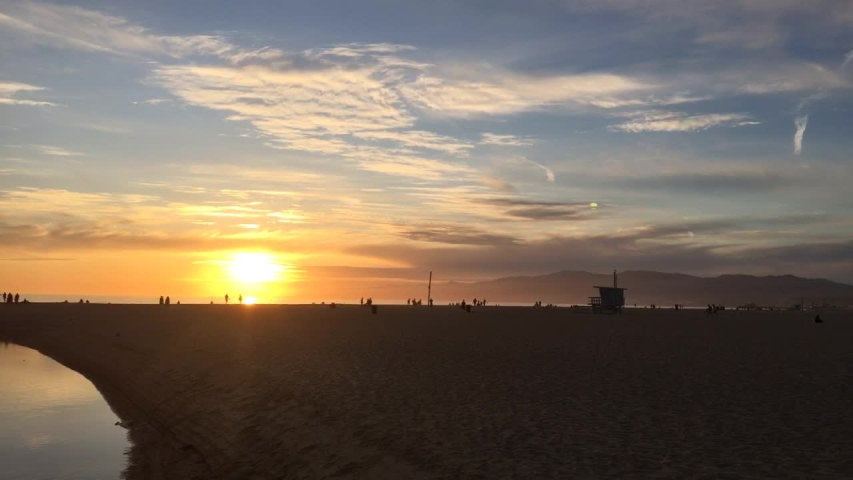 Sunset at Venice Beach Los Angeles | Shutterstock HD Video #1029918560