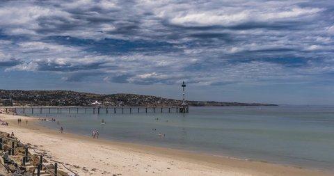 TImelapse of glenelg beach Adelaide, south australia
