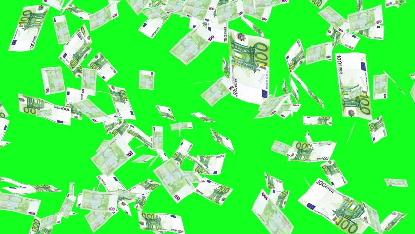 Green Screen Euros Bills Rain Effects Animation, Money Rain 4k animation in green screen, Money Euros  rain effect animation green screen, Euros  bills falling rain | Shutterstock HD Video #1030058330