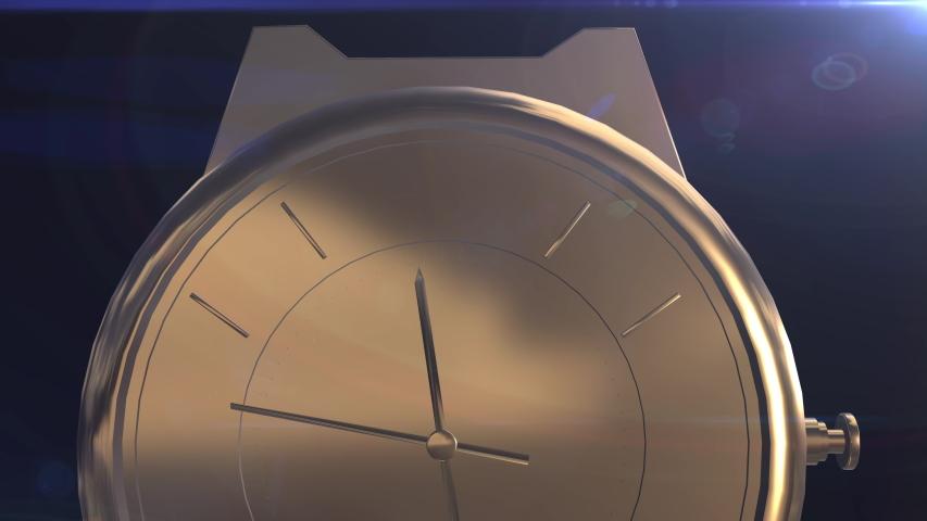 3D Animation gold watch Close Up | Shutterstock HD Video #1030183550