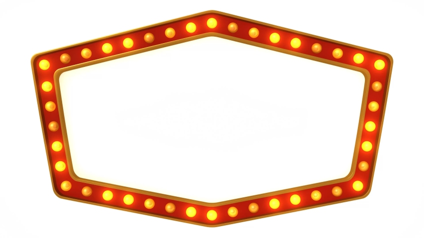 Red marquee light board sign retro on white background. 3d rendering | Shutterstock HD Video #1030185170