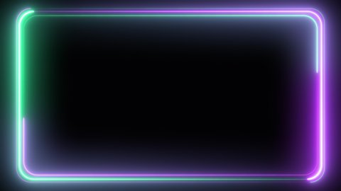Abstract seamless pattern of neon glowing ultraviolet lines, modern fluorescent light, neon box, pattern for LED screens projection technology, loop 4k background, blue purple green spectrum