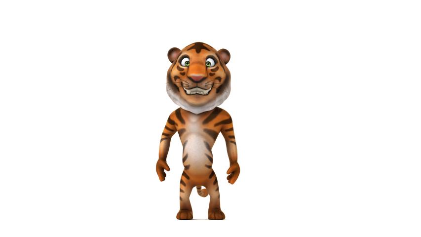Tiger walking - 3D 4K Animation | Shutterstock HD Video #1030241000