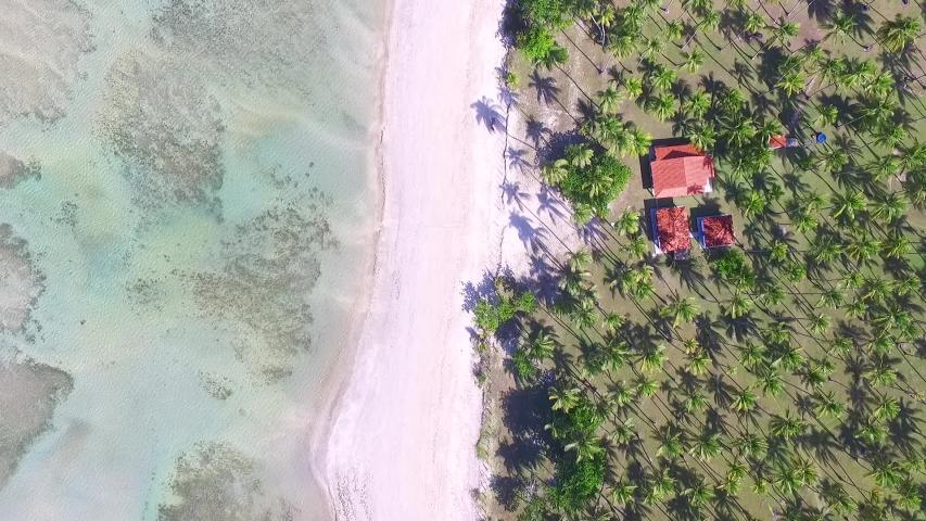 Aerial top view beach of island of Boipeba, Bahia, Brazil   Shutterstock HD Video #1030265660