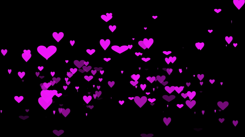 Black background and moving heart shape  | Shutterstock HD Video #1030428500
