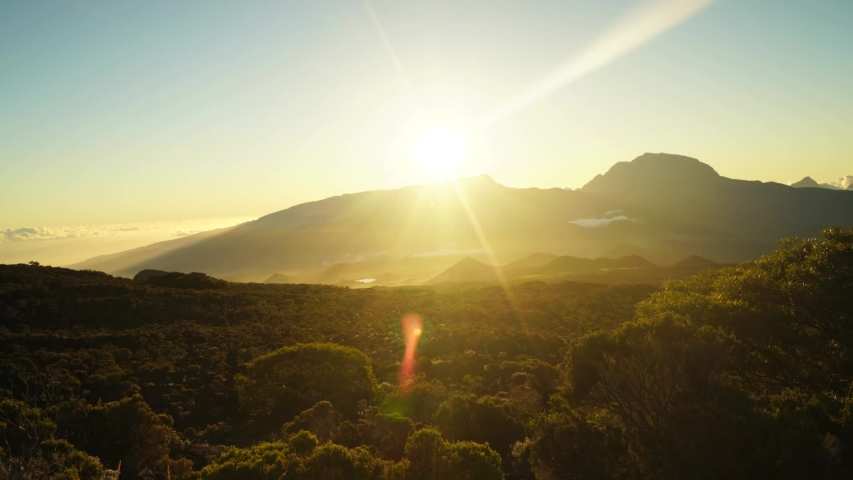 Sunset Time Lapse Piton des Neiges Volcano, Reunion Island | Shutterstock HD Video #1030659230