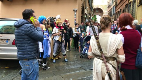 Lucca, Italy - 11 02 2018: Lucca Comic Con & Games