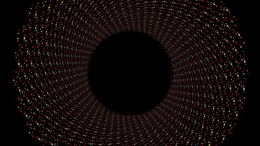 Looping circular abstract spiral motion design on black background | Shutterstock HD Video #1030965830