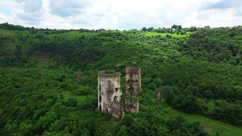 The ruins of the old castle Ukraine Chernivtsi region