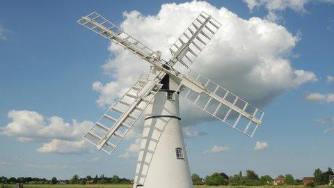 Thurne Mill - Broads National Park Landmark, Norfolk - June 2019. The Staithe, River Thurne, Broads National Park, Norfolk, England, United Kingdom