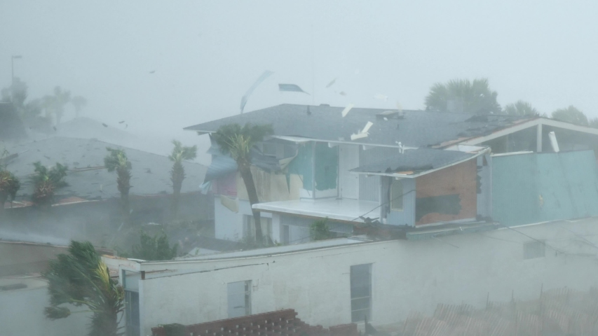 Category 5 Hurricane Michael Wind Rips Homes Apart