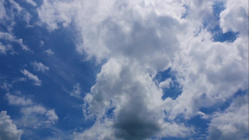 4k time lapse beautiful blue sky with clouds background.Sky clouds.Sky with clouds weather nature cloud blue.Blue sky with clouds | Shutterstock HD Video #1031349830