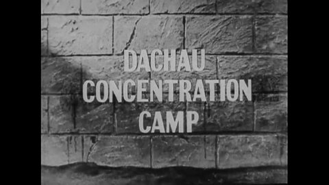 CIRCA 1940s - Footage of Dachau Nazi Concentration Camp victims.