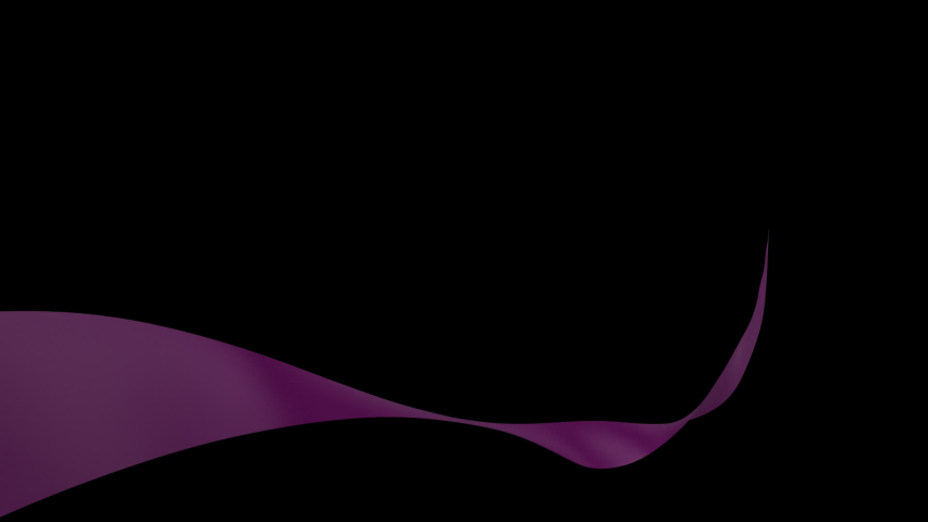 Purple satin Ribbon floating in front of the camera, Best for Valentines Day and Wedding, Advertising. Silk ribbon 3d animation 3d rendering   Shutterstock HD Video #1031696840