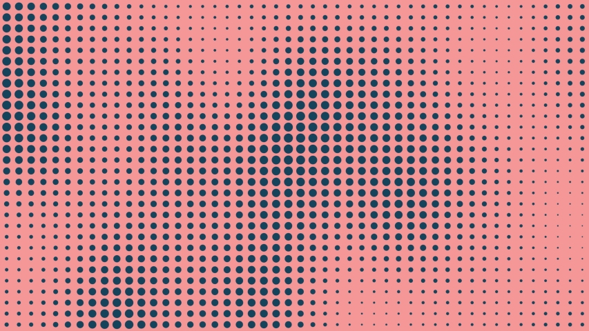 Seamless - Halftone dots motion background, Dot cartoonist background, Halftone comic dot animation. Wave pattern. Retro and Vintage Pattern animation. | Shutterstock HD Video #1031891840