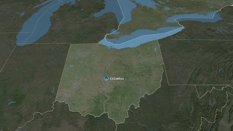 Ohio - state of the united states zoomed on the satellite map of the Satellite Map Of Ohio on airports of ohio, aerial maps ohio, digital map of ohio, detailed map of cleveland ohio, google map of ohio, road map of ohio, map of the ohio, topographical map of ohio, weather of ohio, large maps of ohio, seismic map of ohio, coordinates of ohio, map of downtown columbus ohio, pdf map of ohio, united states of ohio, village of ohio, physical map of ohio, aerial view of belle valley ohio, northfield center ohio, elevation of ohio,
